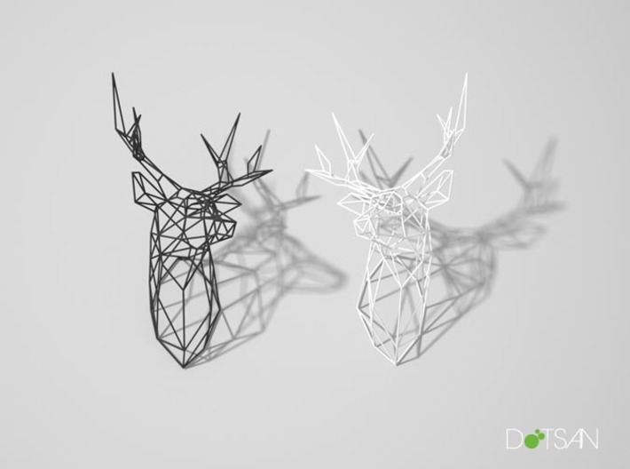 Stag Deer Trophy Head Large Facing Right 3d printed