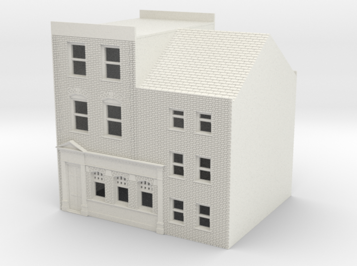 TFS-71 N Scale Topsham Fore Street building 1:148 3d printed