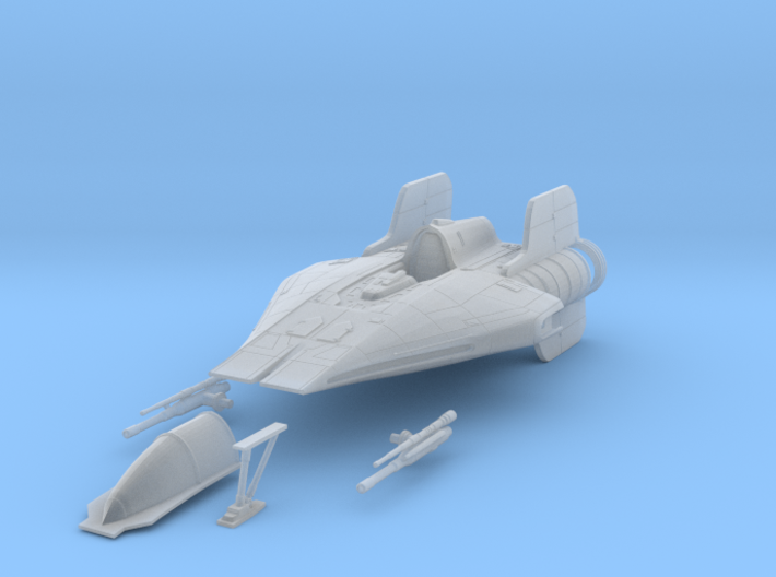 A-Wing 1/72 scale 3d printed
