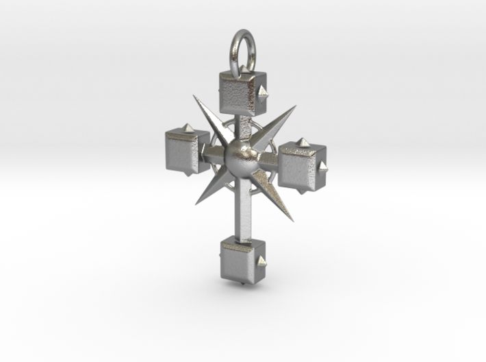 Pendant Cross And Spikes 01 - MCDStudios 3d printed