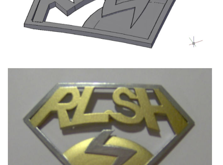 Improved RLSH badge 3d printed