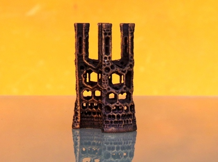 Fractal Cathedral 3d printed Painted model