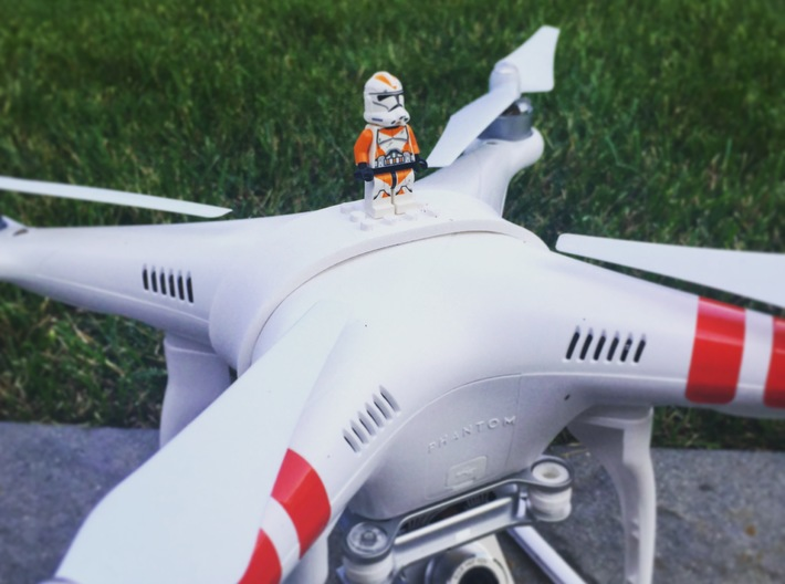 DJI Phantom - Snap Strap for Construction Blocks 3d printed Actual photograph of tested prototype