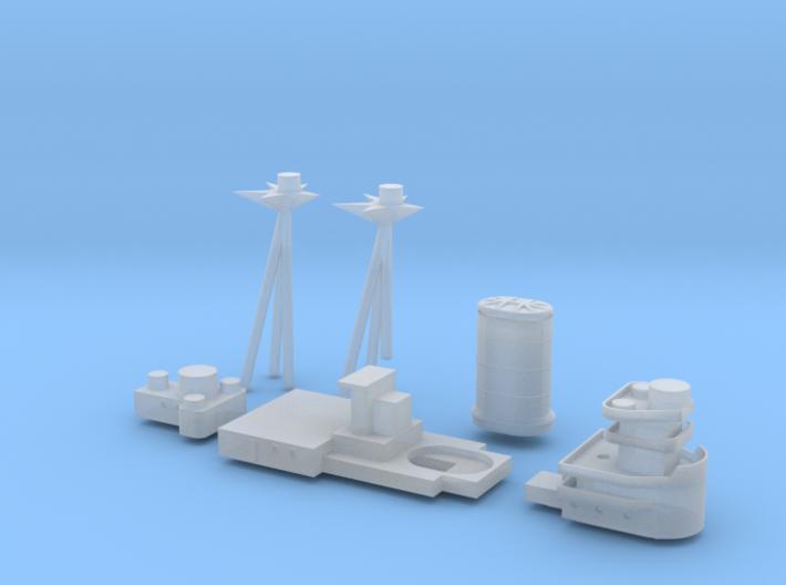 1/700 HMS L-III Battleship Superstructure Set 3d printed