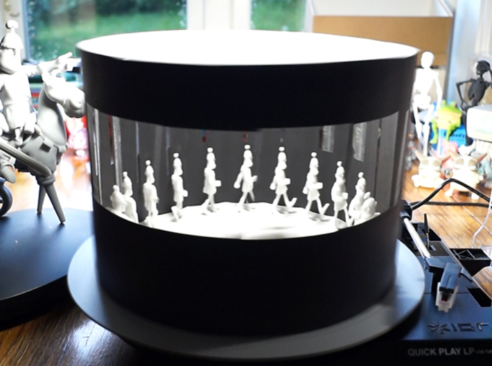 Zoetrope Walk Sequence 3d printed