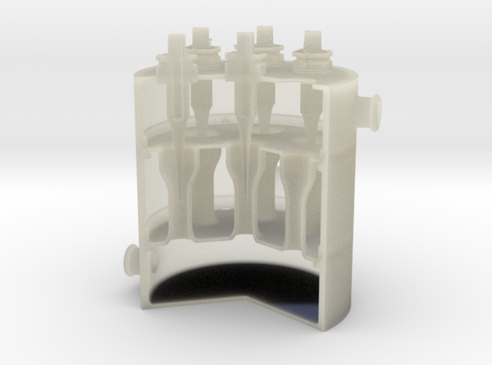 Cut-Away Reactor 3d printed