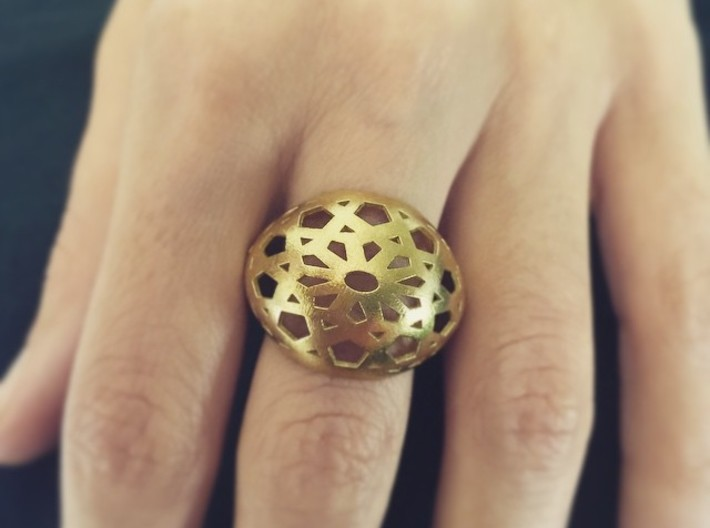 Jali Ring 3d printed
