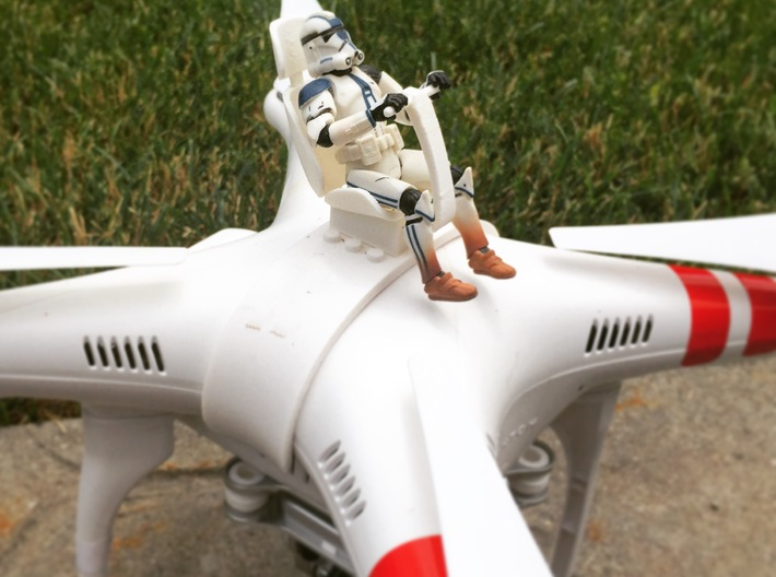 DJI Phantom - Snap Strap with Pilot Chair 3d printed Actual photograph of tested prototype