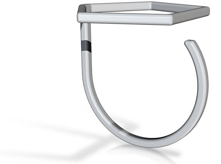 Pentagon ring shape. 3d printed