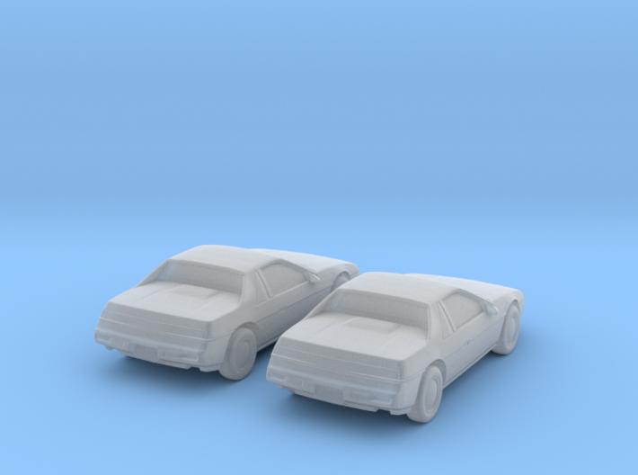 1/160 2X 1983-88 Pontiac Fiero 3d printed