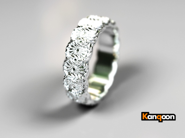 Daisy - Ring 3d printed Polished Silber PREVIEW