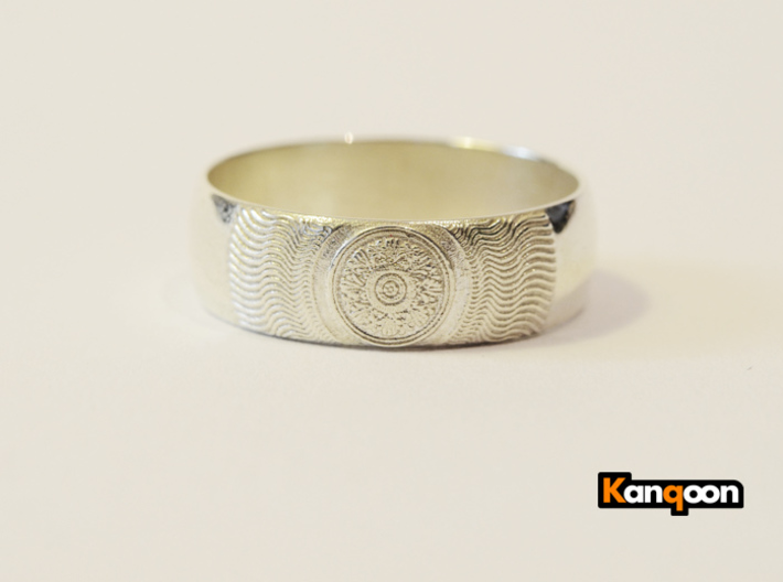 Martha - Ring - US 7.25 - 17.53mm 3d printed Polished Silver printed 21.5 mm