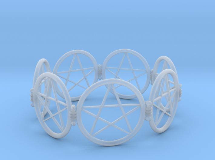 2.9in Pentacle Bracelet 3d printed