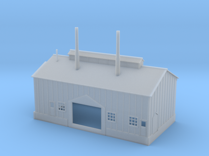 Clay Spur Dryer House Building 6 Z Scale 3d printed Dryer House Building 6 Z scale