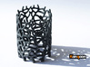 Coraline Tealight Black Sandstone 3d printed Full Color Sandstone printed