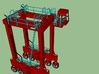N Kalmar Intermodal Straddle Carrier (PIA) 3d printed Safety Rails Overview w/ Ladder