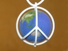 World Peace III (Cage) 3d printed Polished White Strong & Flexible