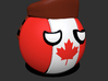 Countryballs Canada with Racoonhat 3d printed Countryballs Canada - 3d render