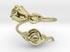 Roses Ring Anello con boccioli 3d printed
