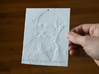 James Clerk Maxwell Shadowgram 3d printed Photo of the print lit from the front, revealing the relief