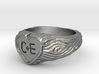 Rustic Signet Ring C + E Size 6 3d printed