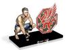 "CHRIS WADE [LONG ISLAND MMA custom base] - 5"" Tall 3d printed"