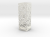 Lamp Square Column - Curved Star Pattern V1 3d printed