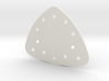 Triangle Gem Setting Plate 3d printed