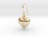 Pet Paw Heart Earrings 3d printed