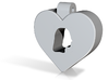 Heart Pendant Engraved with YOUR PHOTO 3d printed