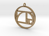 Golden Ratio Spiral Pendant 3d printed