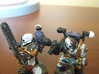 Skull Helmet Heads 28mm scale 3d printed Painted and glued onto Games Workshop plastic models, ready for battle!