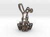 Rabbit (Bunny) Wireframe Keychain  3d printed