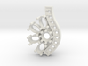 SolarCrest earring. Part of garniture. 3d printed