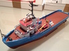 MV Anticosti Hull, Decks and GillJet (RC, 1:200) 3d printed final model (assembled and painted)