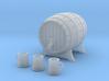 Miniature Barrel and Tankard Set 3d printed