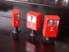 Post Boxes (three sizes), N-scale 3d printed