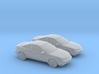 1/160 2X 1998 Chevrolet Cavalier Coupe 3d printed