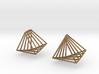 Rotating triangle earrings 3d printed