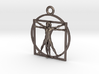 3D Printed Stainless Steel Vitruvian Man Keychain 3d printed