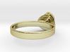 Gold Mine ring - UK P (inside diameter 17.93mm) 3d printed