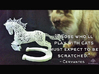 "Rocinante Horse Sculpture 3d printed ""Those who'll play with cats must expect to be scratched."" -Cervantes"