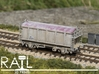 PRA China Clay Wagon N Scale (1:148) 3d printed Model painted and fitted to a Peco chassis.