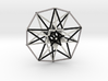 5D Hypercube Sacred Geometry B&W lg 3d printed