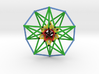 5D Hypercube Sacred Geometry Color lg 3d printed