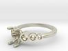 Bezel Engagement Ring 3d printed
