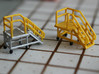 N Scale 3x Mobile Train Access Stairs 3d printed 2 access stairs painted in different color schemes in Frosted Ultra Detail.