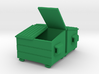 Dumpster (2) Mixed - HO 87:1 Scale 3d printed