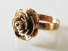 Rose Ring (multiple sizes) 3d printed Finished ring in polished bronze