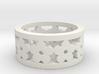 Flower Cut Ring Ring Size 7 3d printed